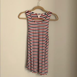 Red, white and blue striped tank